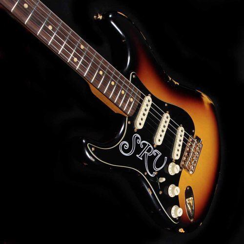 Fender Lefty Loaded Strat Pickguard CS Texas Special 7 Way All Black Left Hand